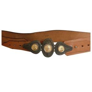 🇨🇦 Vintage 80s leather belt by M.Robichaud